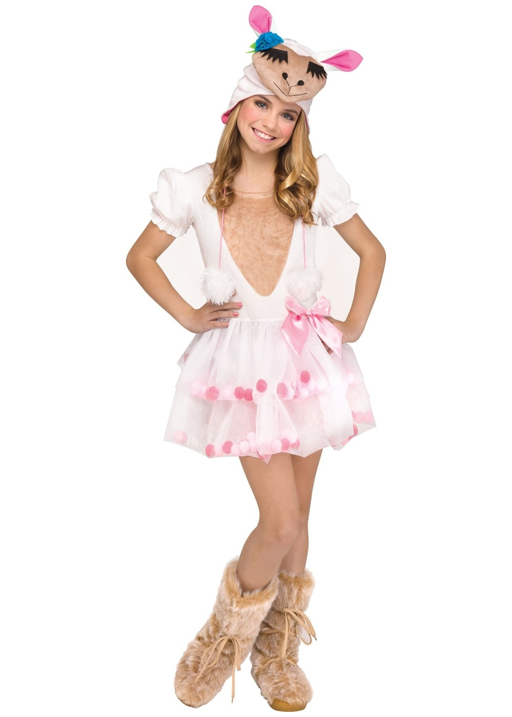 Kids Lovely Little Llama Girl Costume