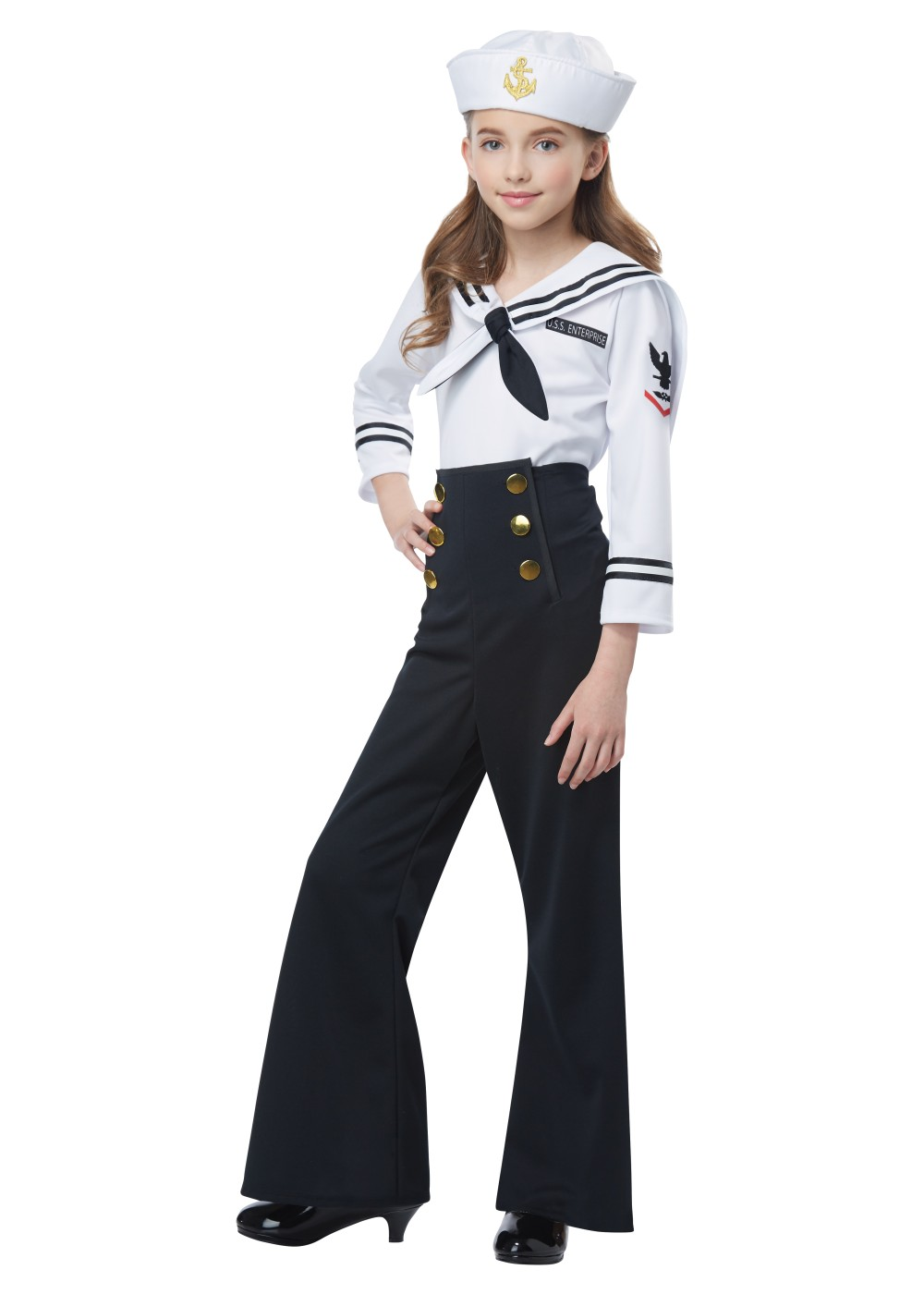 Kids Navy Sailor Girl Costume