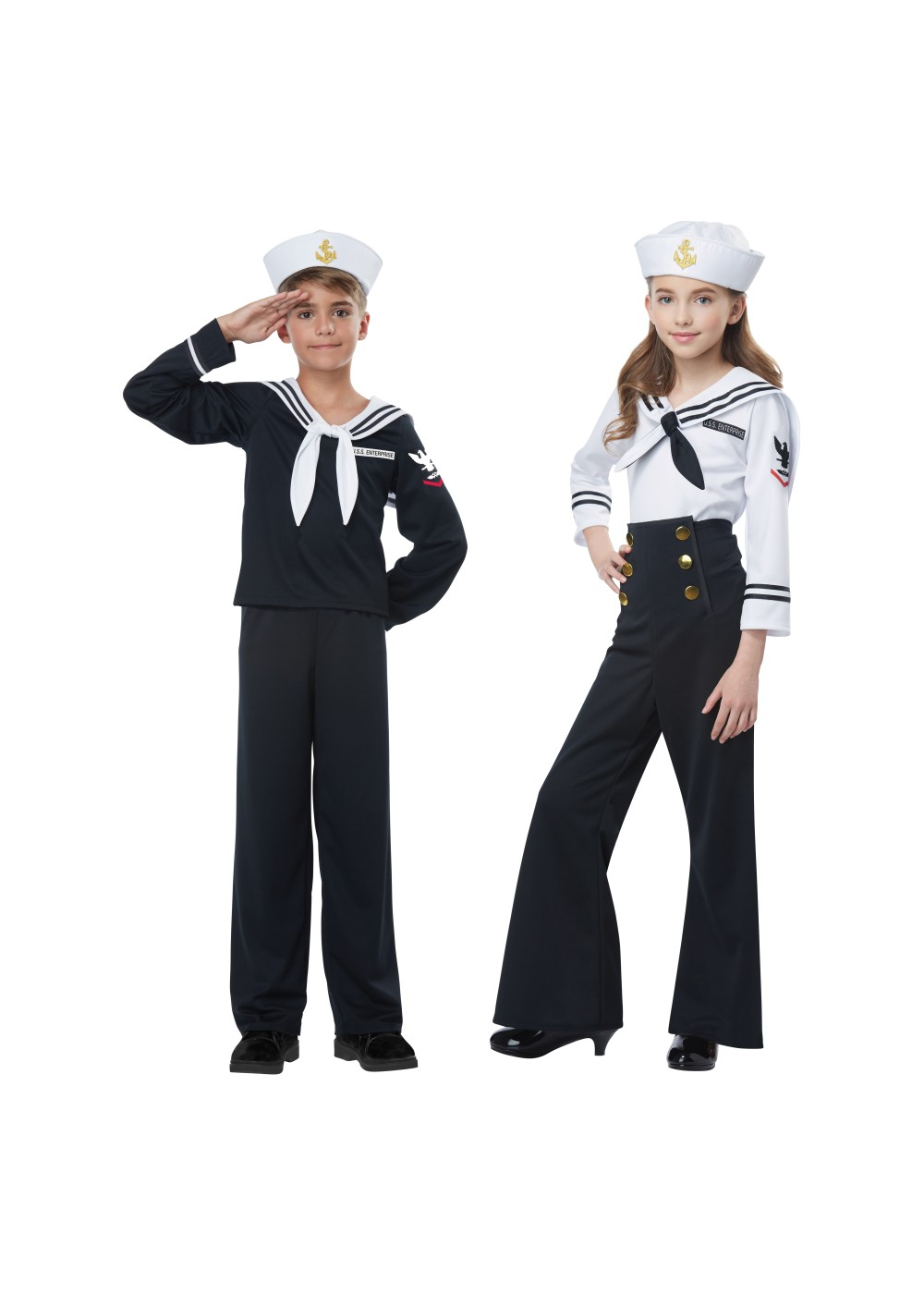 Navy Sailor Kids Costume Set