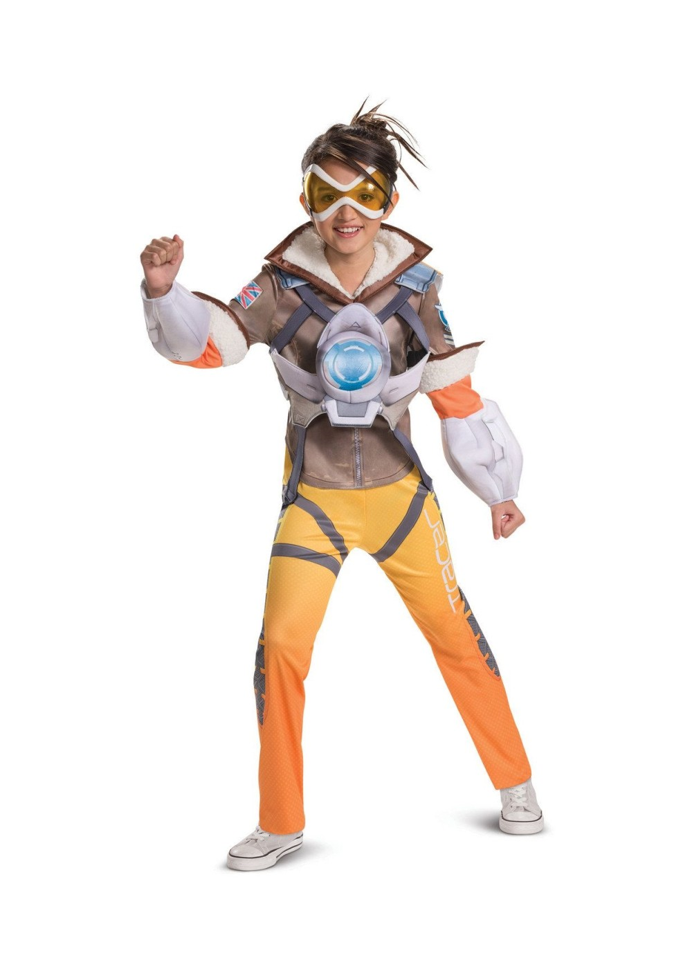 Kids Overwatch Tracer Girls Costume