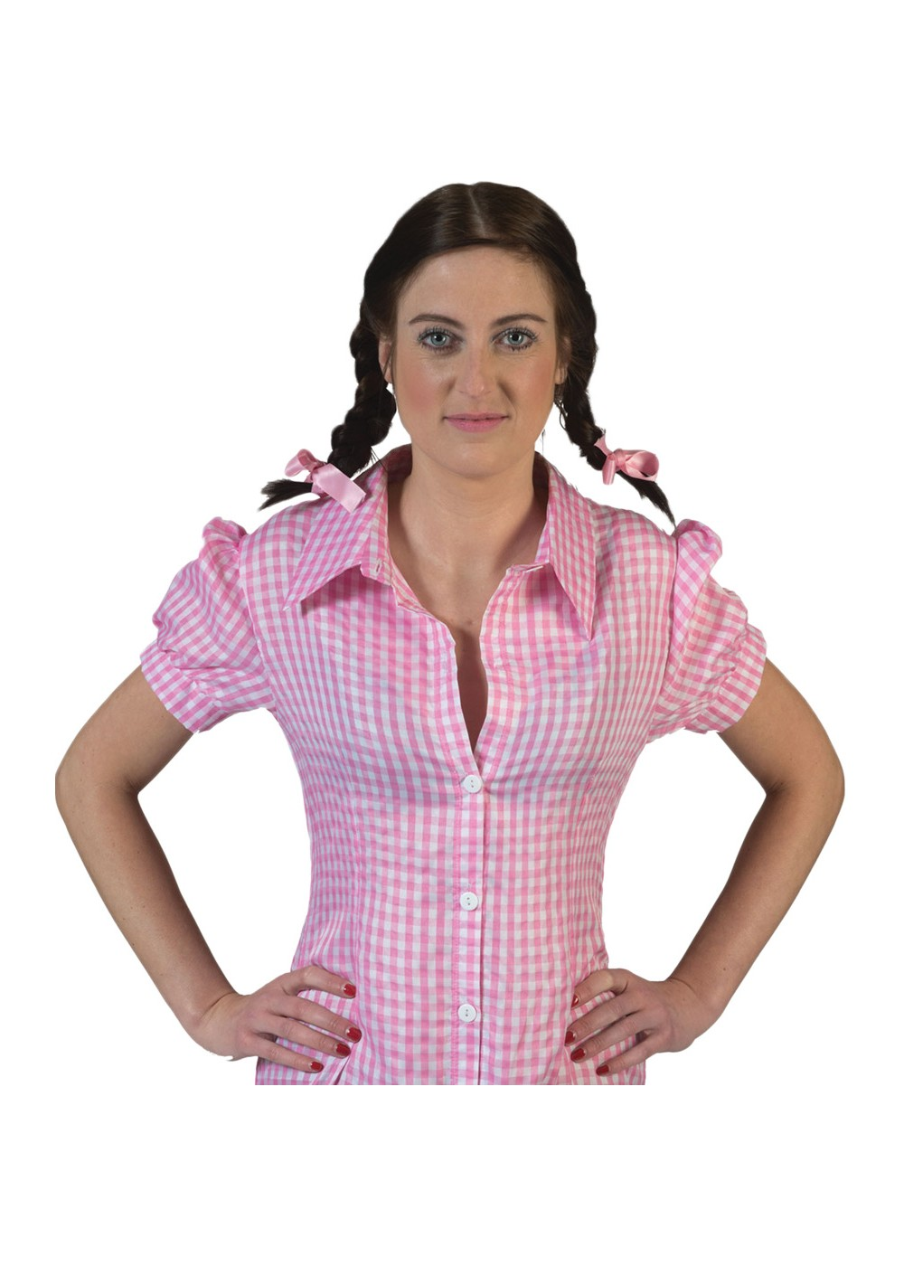 Pink Checkered Costume Shirt