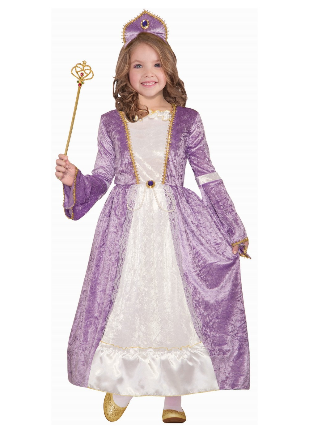 Kids Girls Princess Lavender Costume