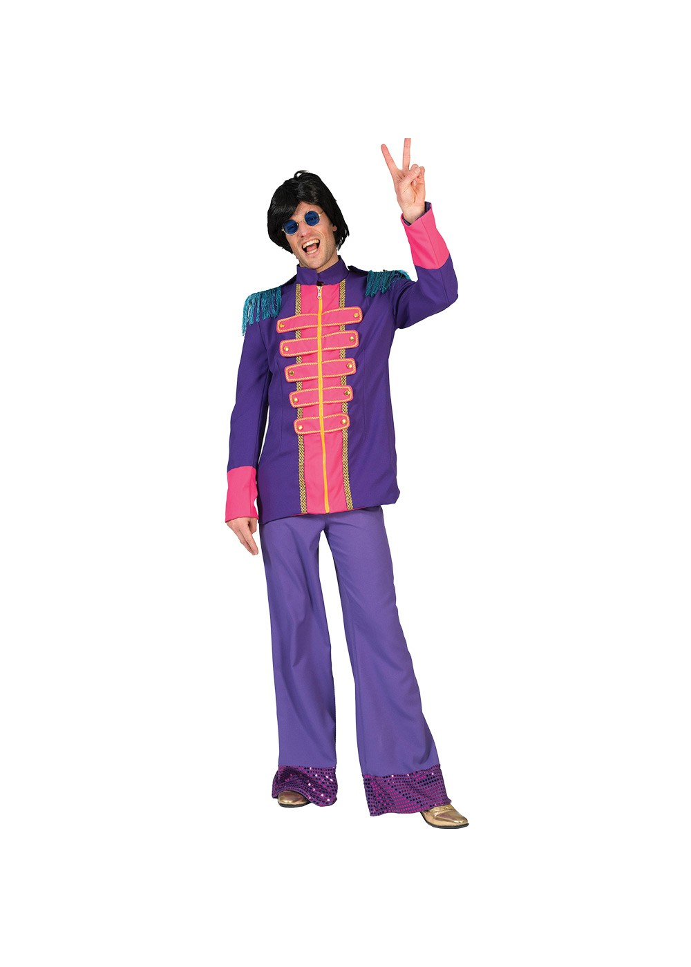 Purple Colorful Sixties Mens Jacket
