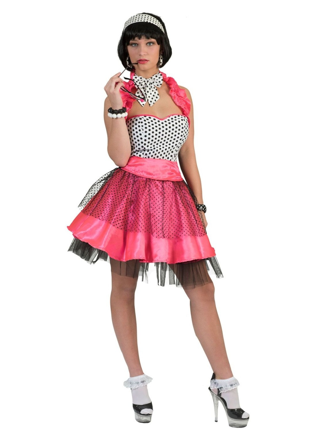 Womens 50s Rock N Roll Dress 1950s Costumes