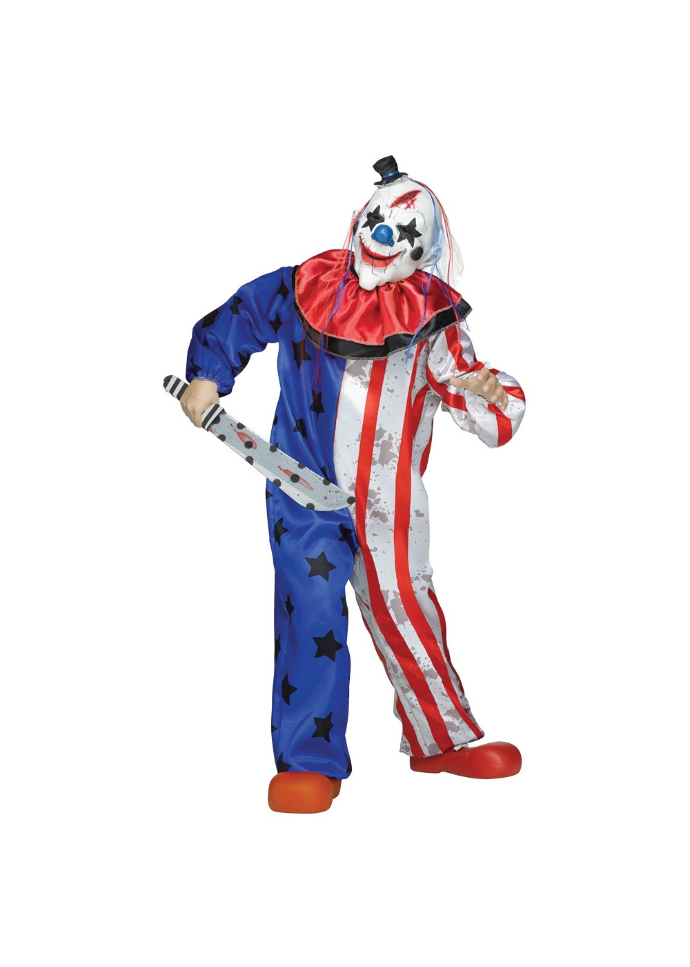 Scary Circus Child Clown Costume