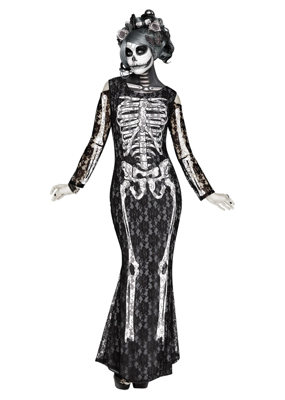 Lacy Bones Womens Skeleton Costume