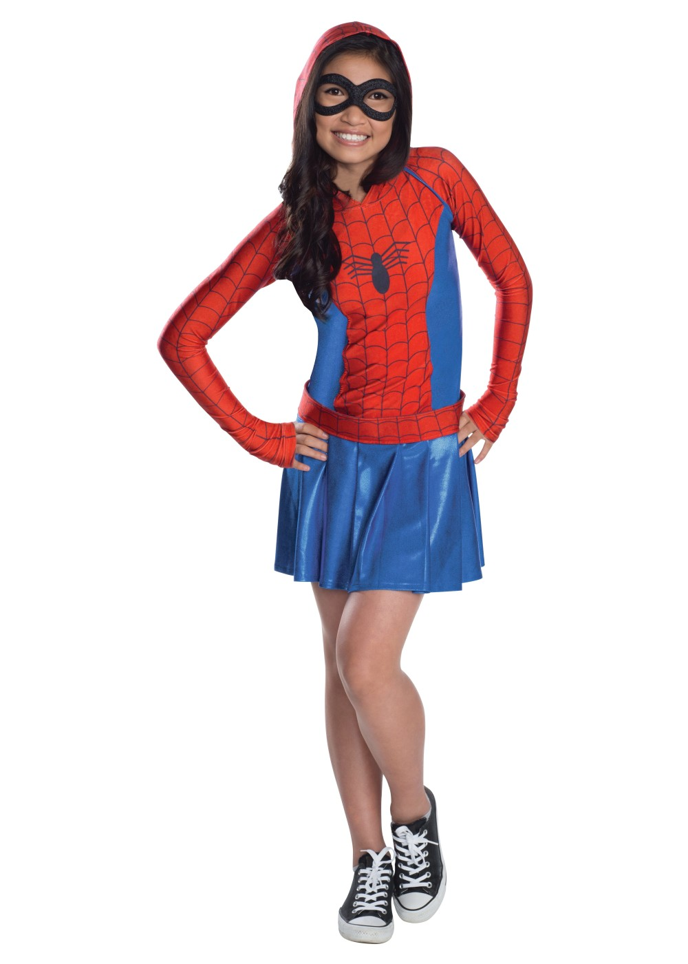 Kids Spidergirl Hooded Dress Costume