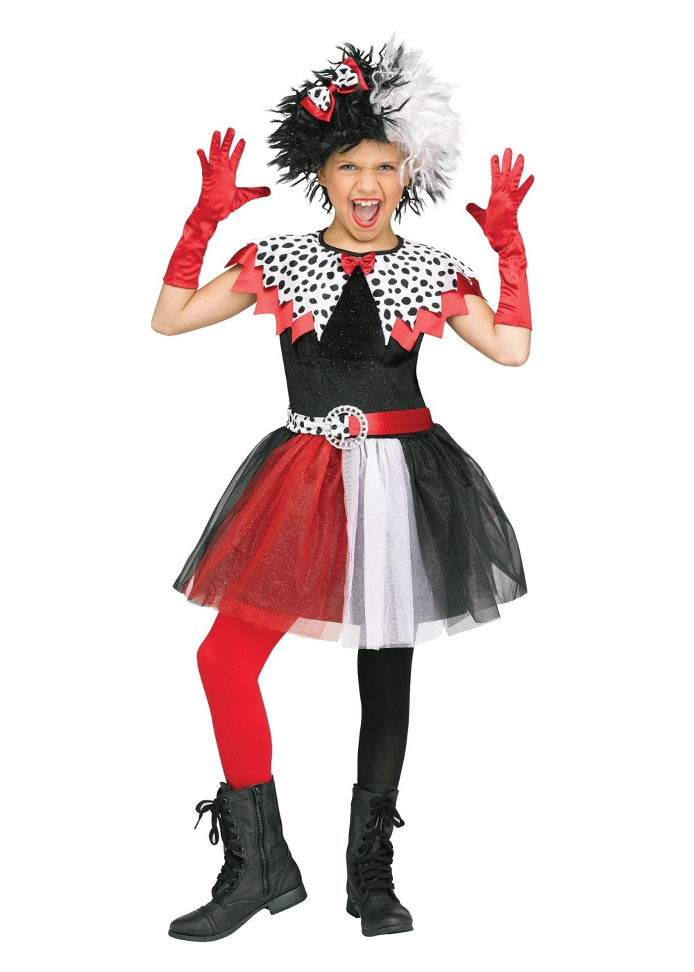 Kids Spotted Villain Girl Costume