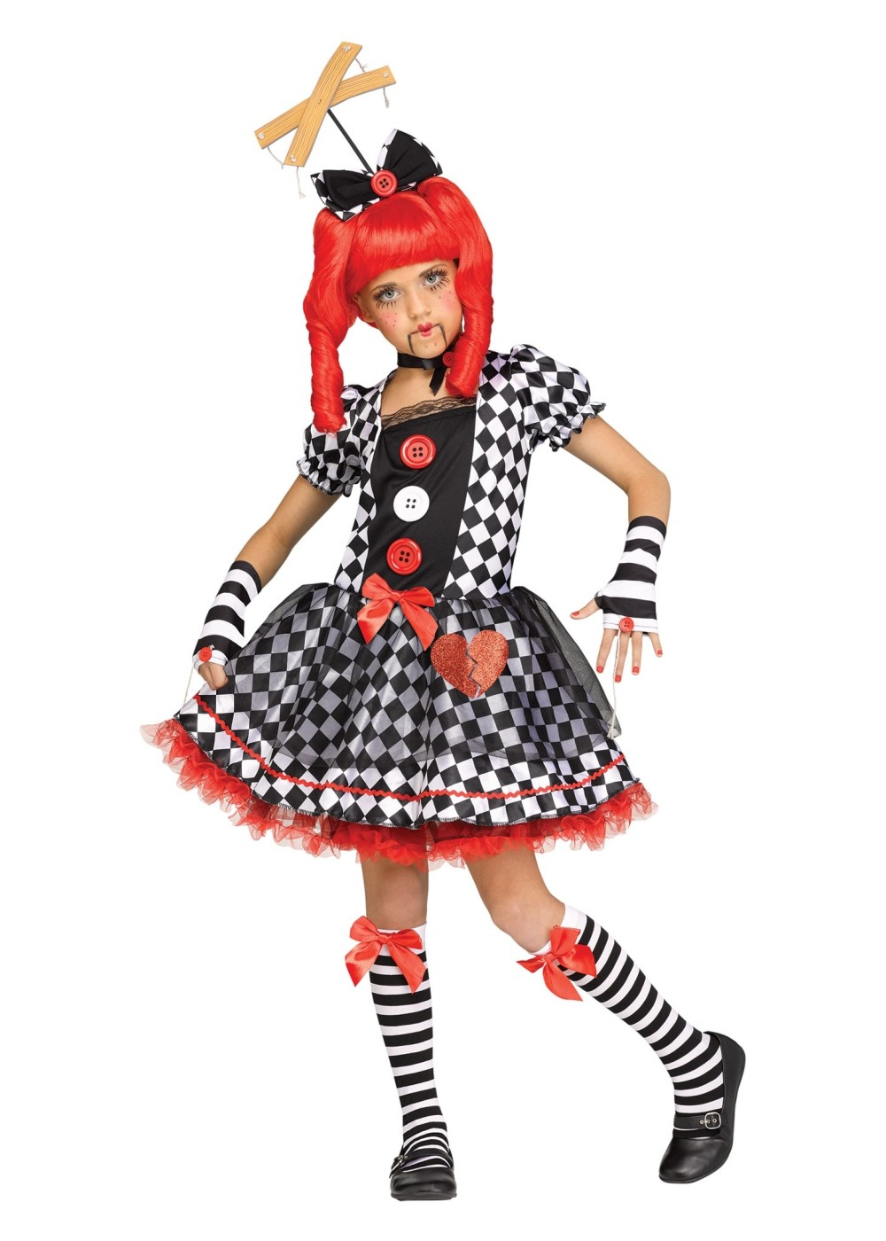 Kids String Puppet Girl Costume
