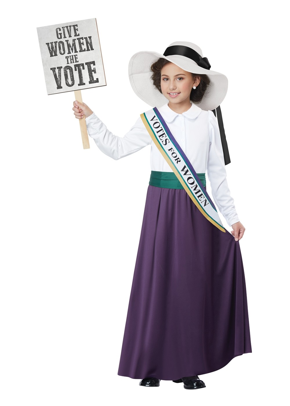 Kids American Suffragette Girl Costume