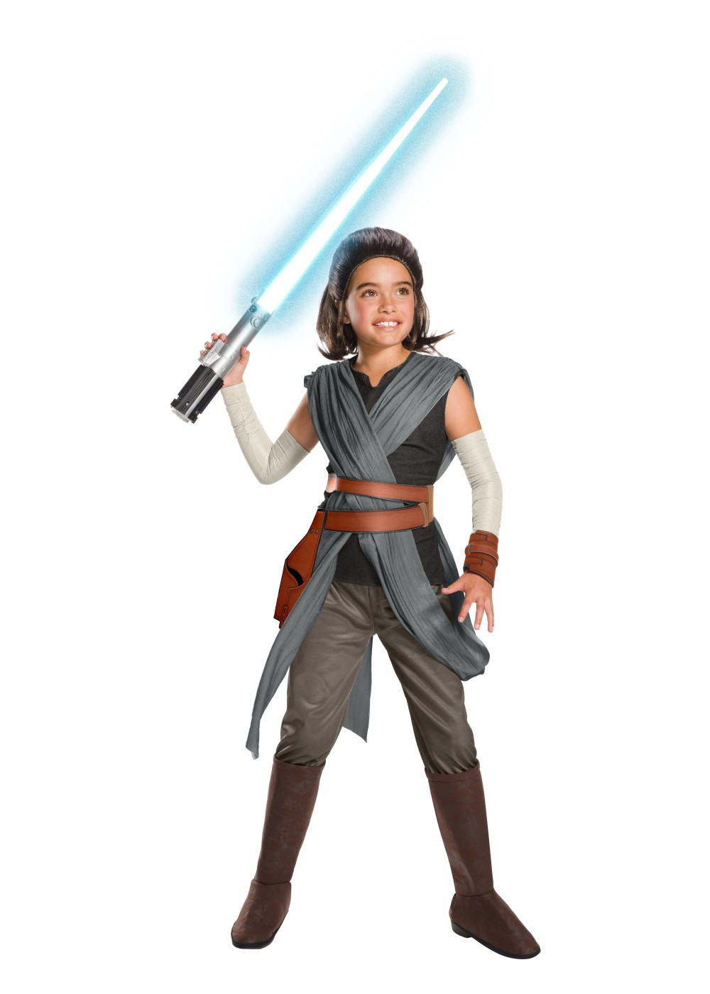 Kids Super Deluxe Star Wars Rey Girls Movie Costume