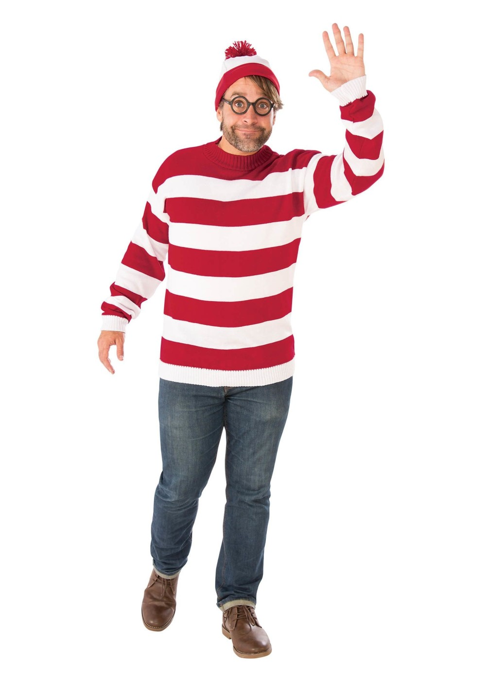 Where's Waldo Plus Size Mens Costume