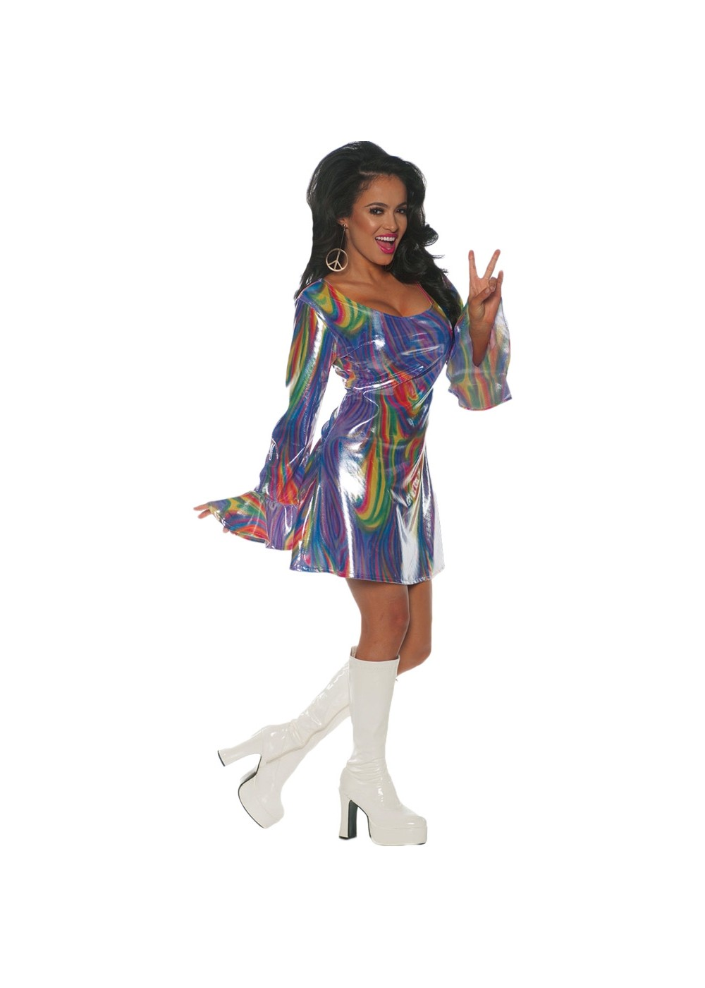 Women's 70s  Disco Dance Floor Costume