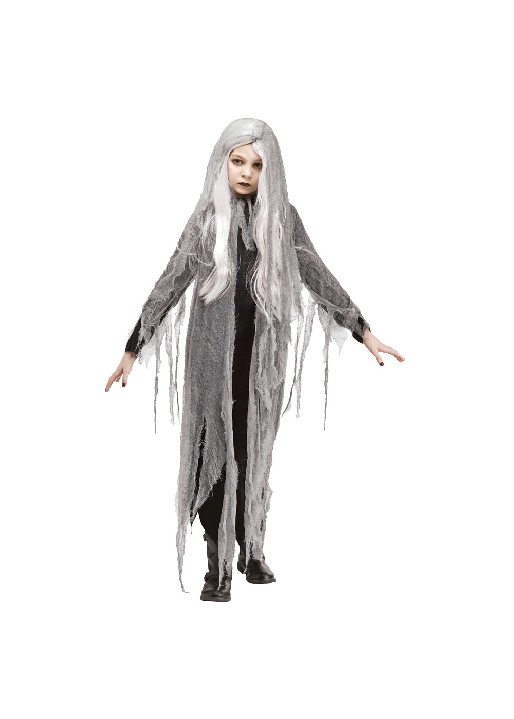Kids Girls Zombie Ghost Costume