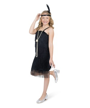 Black Flapper Girls Costume