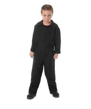 Boys Black Boiler Suit Costume