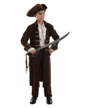 Boys Captain Brown Pirate Costume