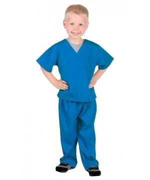 Kidsren's Blue Scrub Suit Costume