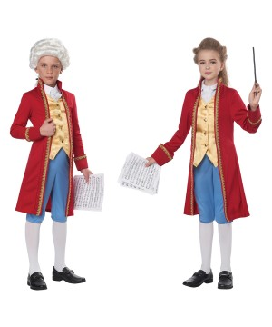 Classical Composer Mozart /amadeus Kid Costume