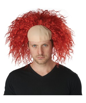 Clown Pattern Baldness Bald Cap Wig