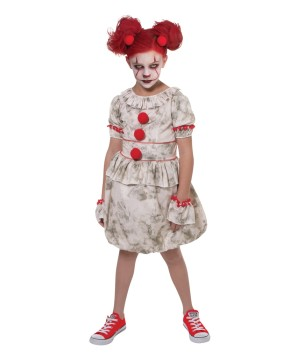 Girls Dancing Clown Kids Costume