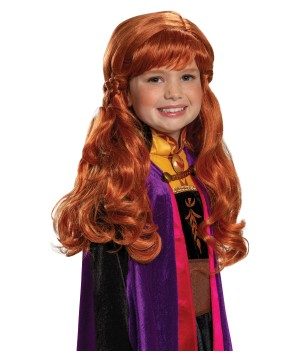 Girls Disney Frozen 2 Anna Wig