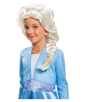 Girls Disney Frozen 2 Elsa Wig