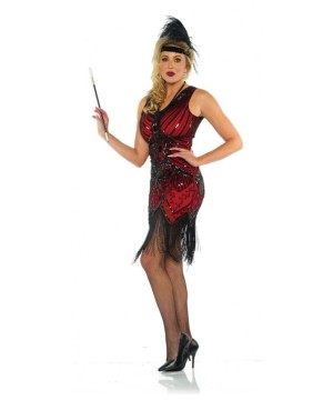 Scarlet Flapper Women Costume