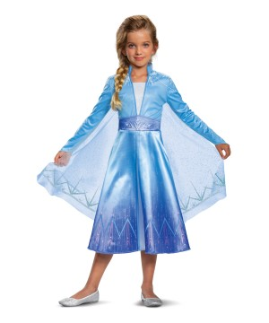Girls Frozen 2 Elsa Costume deluxe