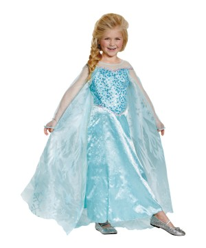 Girls Frozen Elsa Disney Costume Prestige