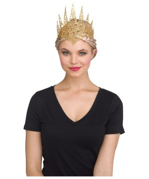 Gold Flexible Glitter Crown