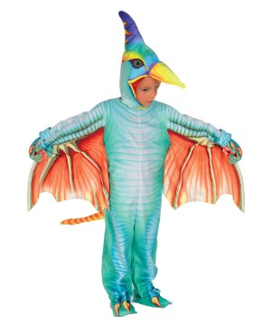 Green Pterodactyl Kids Costume