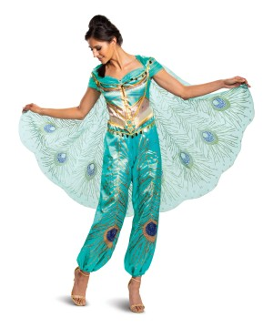 Disney Jasmine Teal deluxe Womens Costume
