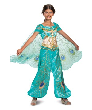 Disney Jasmine Teal deluxe Girls Costume