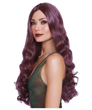 Long Curly Plum Wig