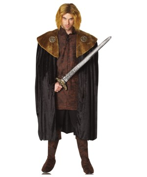 Mens Medieval King Cape