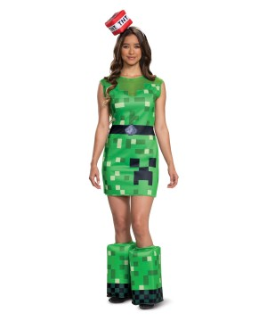 Minecraft Creeper Teen Girl Costume