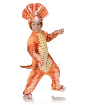 Orange Triceratops Kids Costume