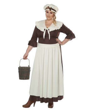 Colonial Village plus size Woman Costume