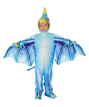 Blue Pterodactyl Kids Costume