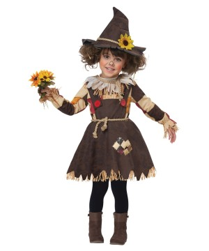 Pumpkin Scarecrow Girls Costume