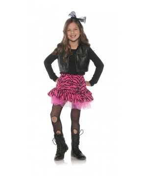 80s Zebra Rocker Girl Costume