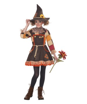 Patchwork Scarecrow Girls Costume
