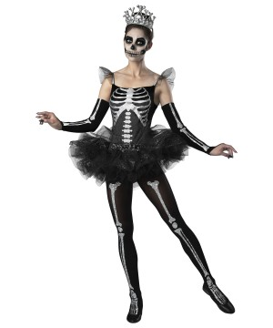Skeleton Ballerina Womens Costume