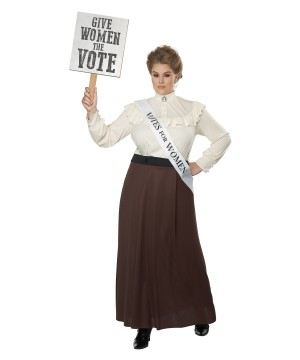 English Suffragette plus size Womens Costume