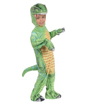 Green T-rex Kids Costume