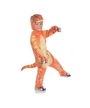 Boys Orange T Rex Costume