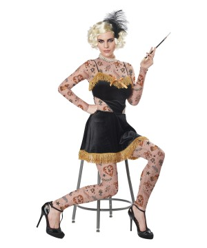 The Amazing Tattooed Lady Womens Costume
