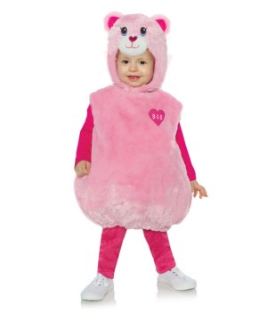 Toddlers Build a Bear Pink Teddy Costume