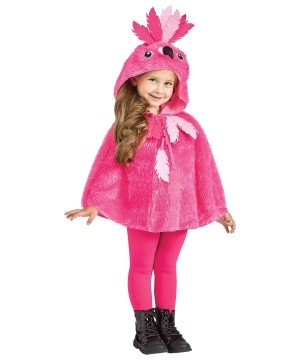 Toddler Flamingo Hooded Cape